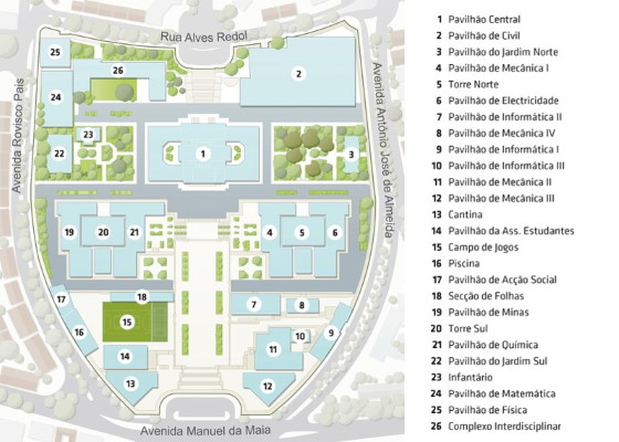 IST Campus Map